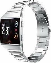 QIONGQIONG Fitbit Ionic Strap Smart Watch Metall