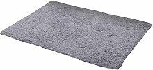 QIQIZHANG Teppich, Baumwoll-Plüsch-Fußmatten,