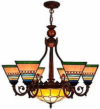 Qiuli Britische Modern Platz Tiffany-Buntglas