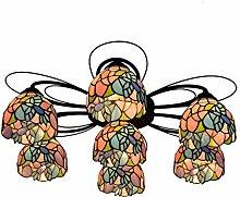 Qiuli Tiffany 7 Multi-Kopf-Deckenleuchte