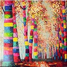 qiulv Baum Diamant Gemälde DIY 5D Mehrfarbig Baum