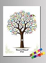 Qiulv Baum Fingerabdruck Unterschrift Gästebuch