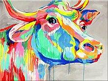 qiulv Das Vieh DIY 5D Diamant Gemälde Mehrfarbig