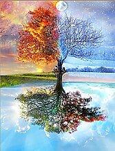 qiulv DIY 5D Baum Diamant Gemälde Stickerei