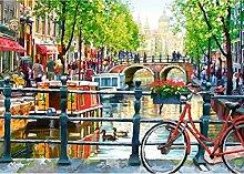 qiulv Fahrrad Diamant Gemälde DIY 5D Komplett