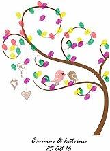 Qiulv Fingerabdruck Unterschrift Gästebuch Baum