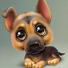 qiulv Hund DIY Gemälde Stickerei Harz Acryl