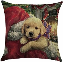 Qiyun. Z Christmas Baumwolle Kissenbezug Kissen werfen Home Decor Sofa Kissenbezug, quadratisch, Baumwoll-Leinen, Picture Color 25, 45*45cm