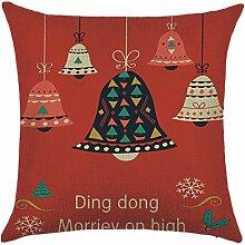 Qiyun. Z Christmas Baumwolle Kissenbezug Kissen werfen Home Decor Sofa Kissenbezug, quadratisch, Baumwoll-Leinen, Picture Color 24, 45*45cm