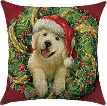 Qiyun. Z Christmas Baumwolle Kissenbezug Kissen werfen Home Decor Sofa Kissenbezug, quadratisch, Baumwoll-Leinen, Picture Color 20, 45*45cm