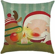 Qiyun. Z Christmas Baumwolle Kissenbezug Kissen werfen Home Decor Sofa Kissenbezug, quadratisch, Baumwoll-Leinen, Picture Color 10, 45*45cm