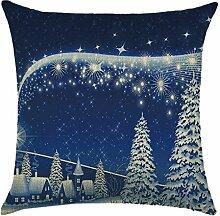 Qiyun. Z Christmas Baumwolle Kissenbezug Kissen werfen Home Decor Sofa Kissenbezug, quadratisch, Baumwoll-Leinen, Picture Color 21, 45*45cm