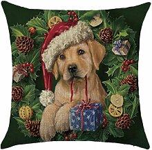 Qiyun. Z Christmas Baumwolle Kissenbezug Kissen werfen Home Decor Sofa Kissenbezug, quadratisch, Baumwoll-Leinen, Picture Color 17, 45*45cm