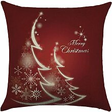 Qiyun. Z Christmas Baumwolle Kissenbezug Kissen werfen Home Decor Sofa Kissenbezug, quadratisch, Baumwoll-Leinen, Picture Color 23, 45*45cm