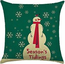 Qiyun. Z Christmas Baumwolle Kissenbezug Kissen werfen Home Decor Sofa Kissenbezug, quadratisch, Baumwoll-Leinen, Picture Color 6, 45*45cm