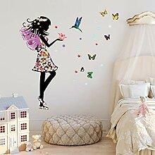 Qjhdg Cartoon Farbe Schmetterling Prinzessin