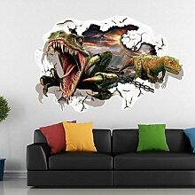 Qjhdg Dinosaurier 3D Stereo Wandaufkleber