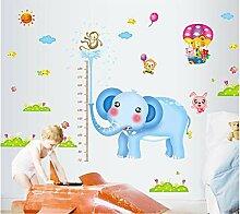 Qjhdg Elefant Höhe Aufkleber Kinderzimmer Cartoon