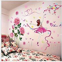 Qjhdg Mädchen Schlafzimmer Warme Wandaufkleber
