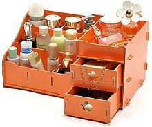 QJKai Kosmetische Aufbewahrungsbox aus Holz zur