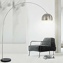QJUZO Dimmbar Bogenlampe, LED Wohnzimmer Stehlampe
