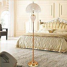 QJUZO Kristall Stehlampe Wohnzimmer, Moderne