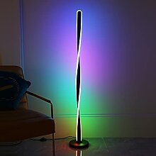 QJUZO Spiral LED Stehlampe Dimmbar mit