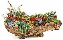 QJXSAN Blumentopf Große Nachahmung Holz