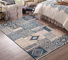 QKR&Schöner Teppich, American Country Wohnzimmer Couchtisch Teppich Schlafzimmer Nachtdecke Blume Pflanze Einfache moderne Schlafzimmer Teppich ( farbe : 5 , größe : 120 × 180cm )