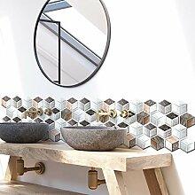 QL&HEY Wallpaper Aufkleber der Fliese 3D -