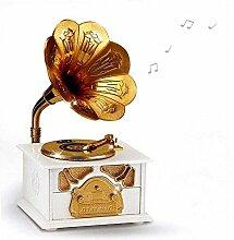 QLIGHA Gramophone Shape Musik Desktop Ornamente