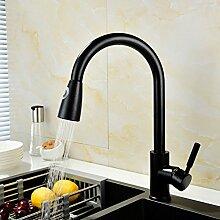 QLIGHA Küchenarmatur Wasserhähne Black Copper