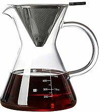 QLSN Kaffeezubereiter Manual Filter Glaskaraffe