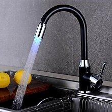 Qlyhyh Kupfer Led Küchenarmatur Mit Einfachem