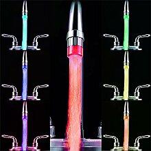Qmber LED leuchtender Wasserhahn bunt 7 Farben