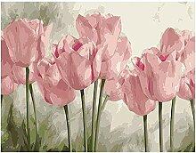QMGLBG 5D Diamantmalerei Tulpe Blume Diamant