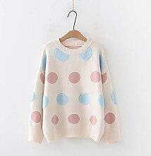 QMGLBG Winter Loose Pullover Handtuch Bestickte