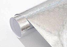 Qmlh Silber Dreidimensional Geprägte Tapete