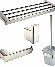 QMM Bad-Accessoires, Badezimmer Zubehörset/Klosettpapierrollehalter/Robehaken/Toilettenbürstehalter/Handtuchtrockner Zeitgenössisch - Wand befestigend