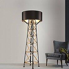 QMPZG-einfache individuelle art boden lampe, wohnzimmer - studie designerlampe, kaffee - stock - lampe,schwarz
