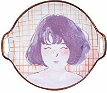 qnmbdgm Platte Keramik Bone China Handgemalte