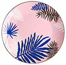 qnmbdgm Platte Keramik Bone China Nordic Golden