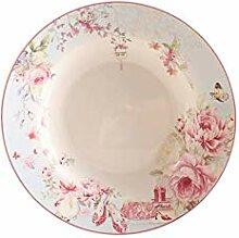 qnmbdgm Platte Keramik British Rose Kleid