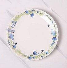 qnmbdgm Platte Keramik Frisches Blatt Porzellan