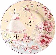 qnmbdgm Platte Keramik Pastoral Porzellan Teller