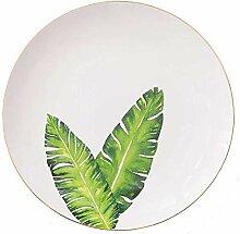qnmbdgm Platte Keramik Porzellan Keramik Flache