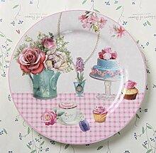 qnmbdgm Porzellan-Geschirr und Teller aus