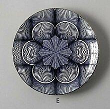 qnmbdgm Teller 8-Zoll-Geschirr Geometrie Geschirr