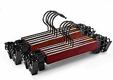 qobobo® 10St Holz Hosenbügel Rockbügel mit