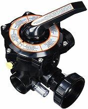 QP Produkte 6-Ventil mit links 11/2, schwarz, 47x 28x 28cm, 500490N
